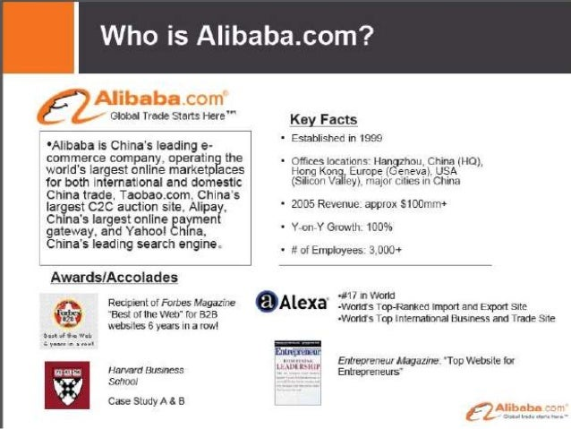 Alibaba One-Off Experiences Business Model