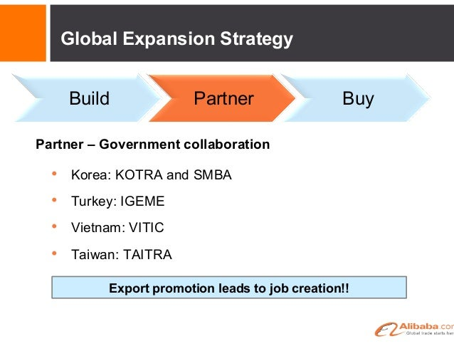 Buy – Strategic acquisitions to accelerate growth • • Global Expansion Strategy Build Partner Buy