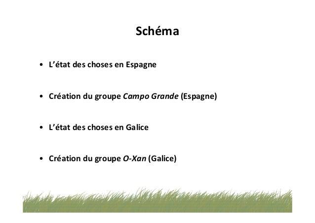Espaces de dialogue en Espagne et en Galice Campo-Grande-& O-Xan - ALIBES BIOSCA Slide 2