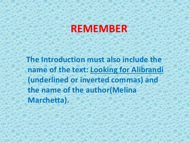 looking for alibrandi by melina marchette essay Looking for alibrandi author melina marchetta takes to literary crime linda morris  this essay serves as an introduction to melina marchetta's looking for alibrandi.
