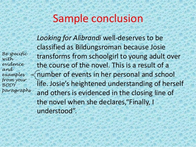 essay on looking for alibrandi Looking for alibrandi is a novel which mostly deals with josephine going through a journey of self discovery josie discovers who she is through both positive and.
