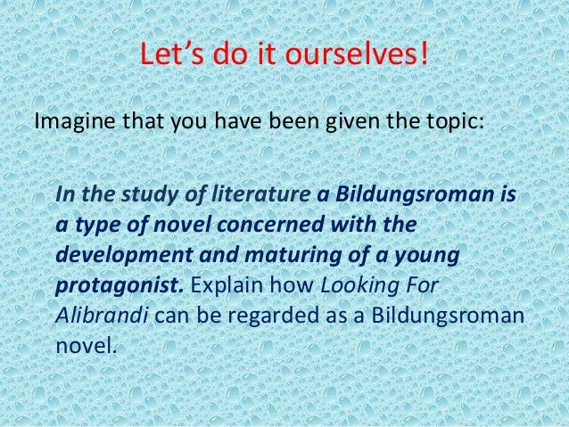 looking for alibrandi book essay A slide show to help students understand how to structure an essay on the novel looking for alibrandi.
