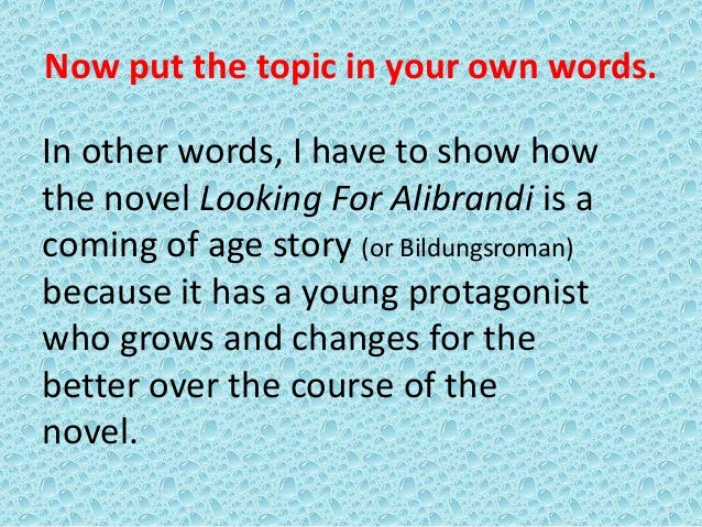 Analytical essay of looking for alibrandi