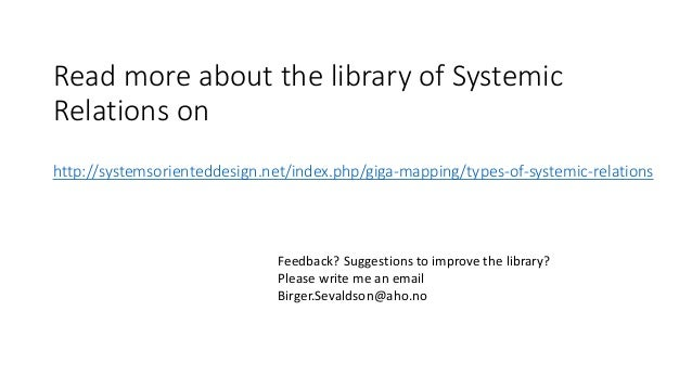 Read more about the library of Systemic Relations on http://systemsorienteddesign.net/index.php/giga-mapping/types-of-syst...