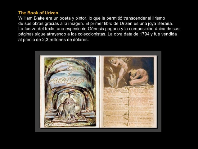 El libro de urizen william blake