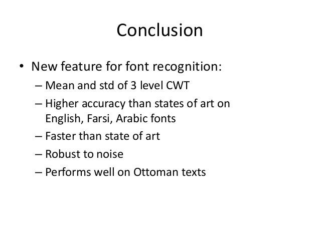 Results Ottoman Font Recognition 33