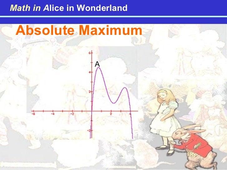 Absolute Maximum A Math in   A lice in Wonderland