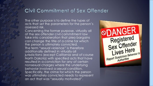 civil committment on sex offenders
