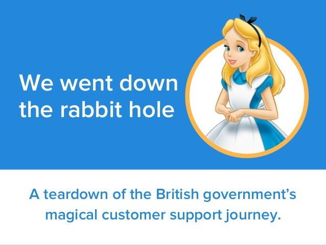 A teardown of the British government's magical customer support journey. We went down the rabbit hole