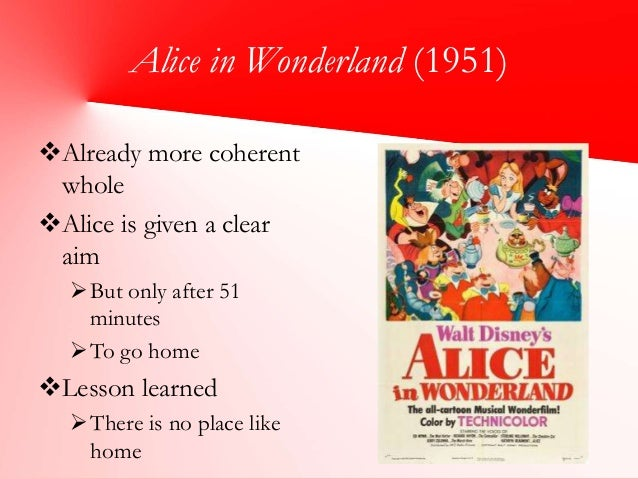 alice in wonderland comparing book and movie Alice in wonderland comparing book and movie novel, alice's adventures in wonderland, has been interpreted as an absurd and nonsense book for children.