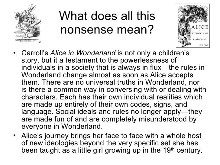 alice in wonderland summary by This item:alice's adventures in wonderland by lewis carroll paperback $399   unconventional book and any attempt to impose a conventional plot on it will.