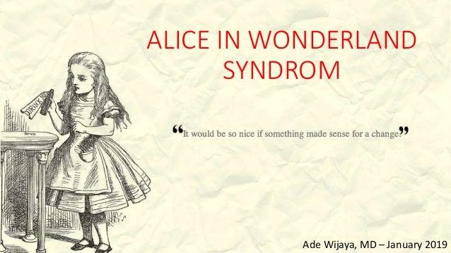 Alice Im Wunderland Syndrom