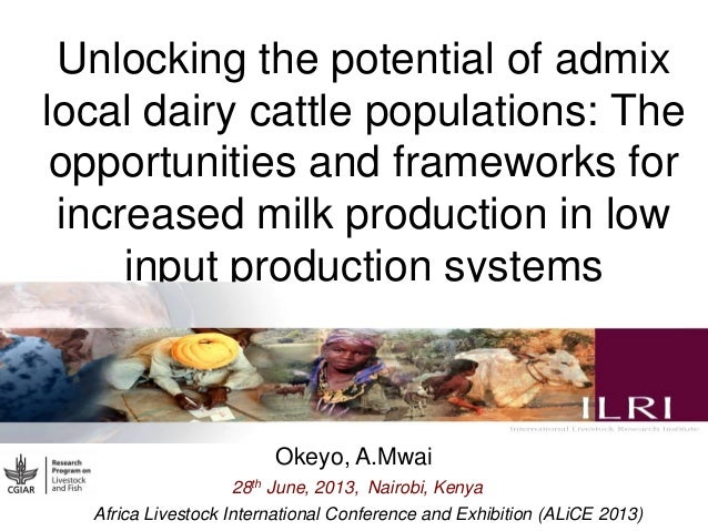 Unlocking the potential of admix local dairy cattle populations: The opportunities and frameworks for increased milk produ...