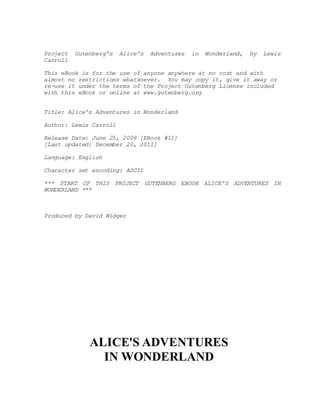 Ebook Alice In Wonderland Bahasa Indonesia