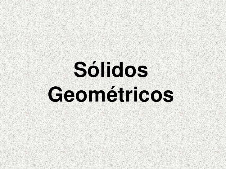 SólidosGeométricos