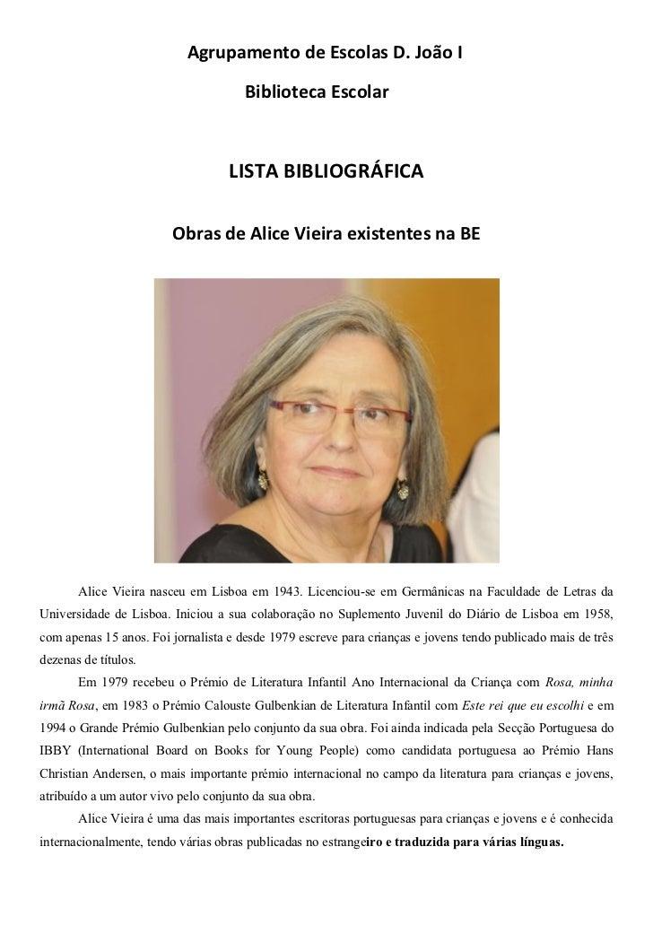 Agrupamento de Escolas D. João I                                      Biblioteca Escolar                                  ...