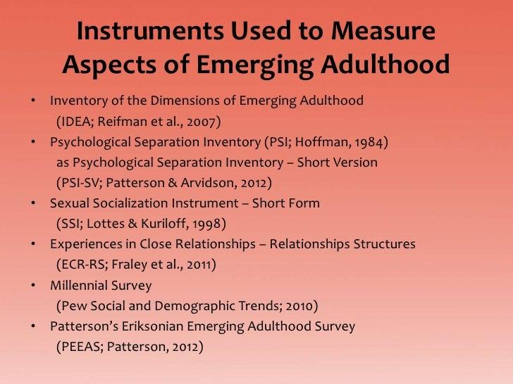 Eriksonian Emerging Adulthood Defense