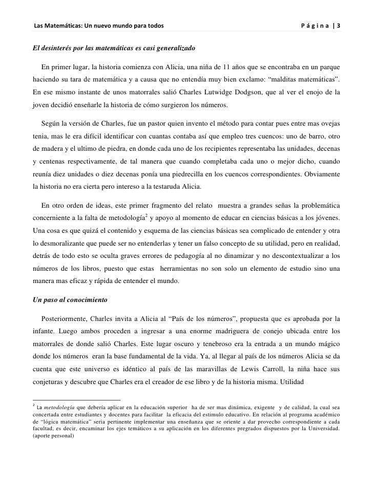 Las Matemáticas: Un nuevo mundo para todos                                                                  Página |3El de...