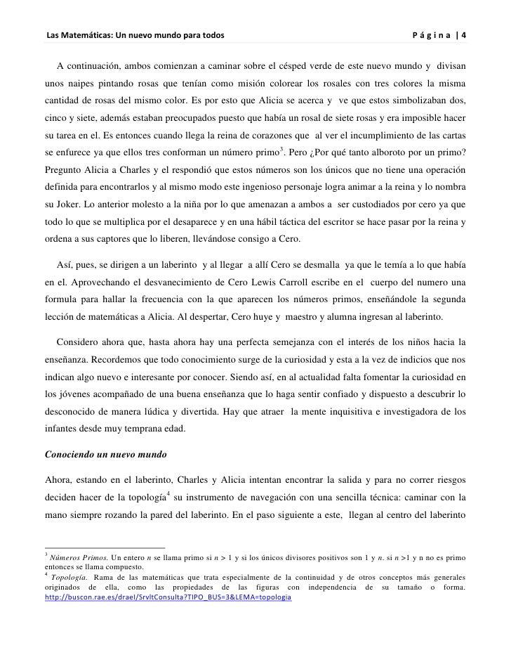Las Matemáticas: Un nuevo mundo para todos                                                                  Página |4    A...
