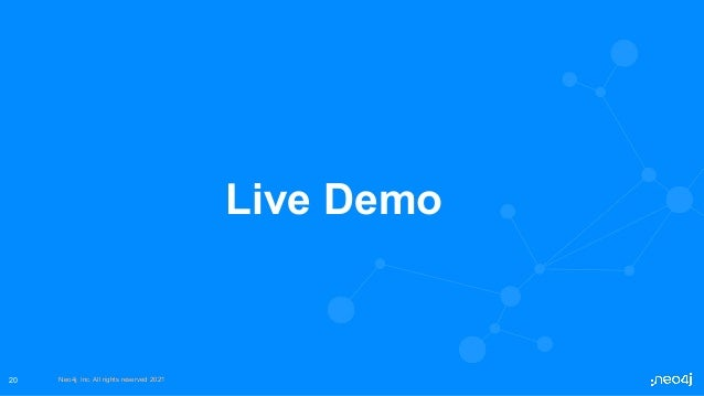 Neo4j, Inc. All rights reserved 2021 Neo4j, Inc. All rights reserved 2021 20 Live Demo