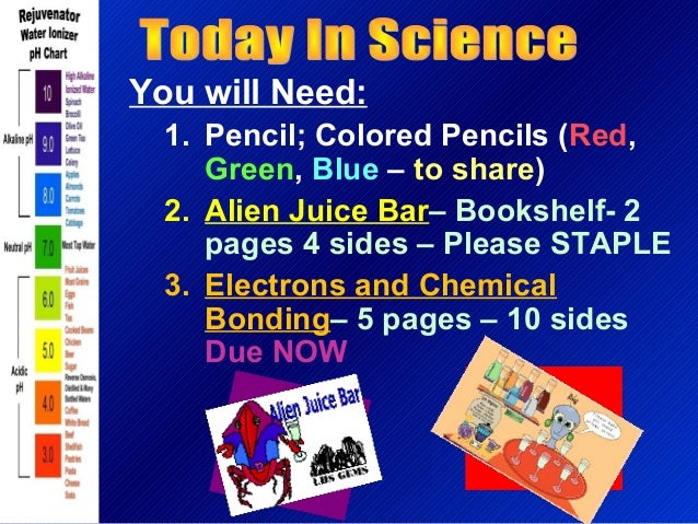 You will Need: 1. Pencil; Colored Pencils (Red, Green, Blue – to share) 2. Alien Juice Bar– Bookshelf- 2 pages 4 sides – P...