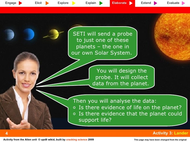 4 SETI will send a probe to just one of these planets – the one in our own Solar System.  You will design the probe. It wi...