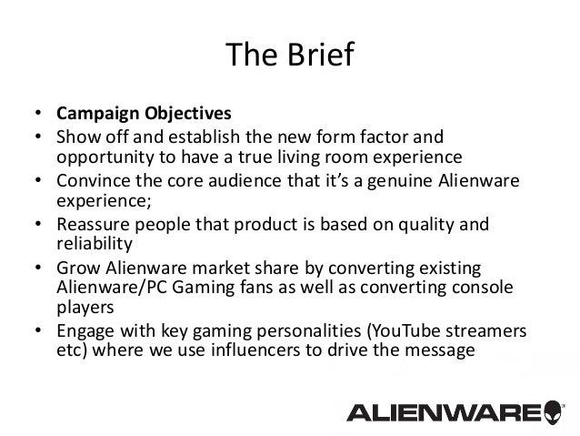 Game Industry Advertising - Alienware alpha console launch