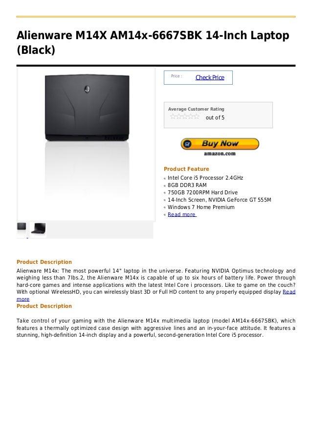 Alienware M14X AM14x-6667SBK 14-Inch Laptop(Black)                                                               Price :  ...
