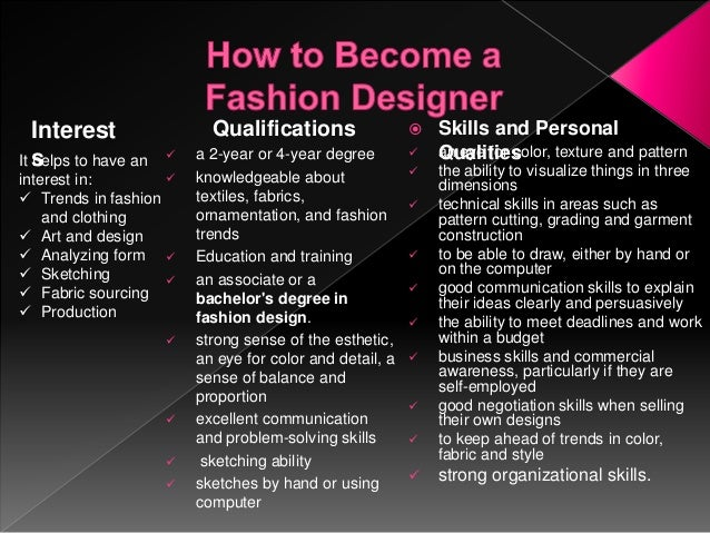 The Life Of A Fashion Designer