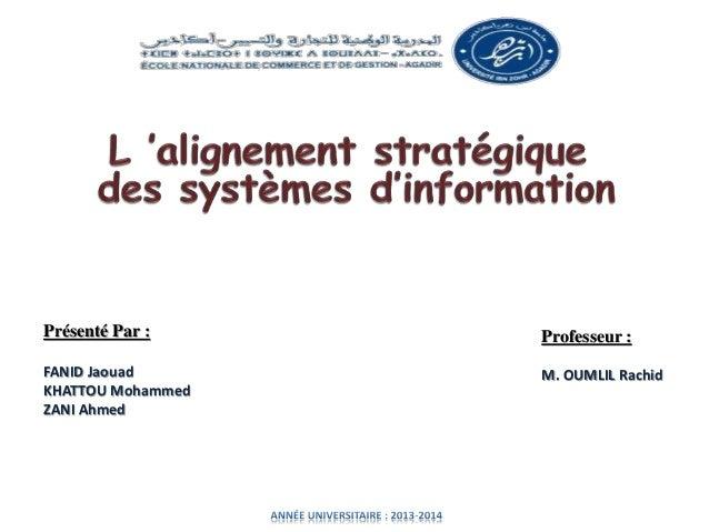 Présenté Par :  FANID Jaouad  KHATTOU Mohammed  ZANI Ahmed  Professeur :  M. OUMLIL Rachid