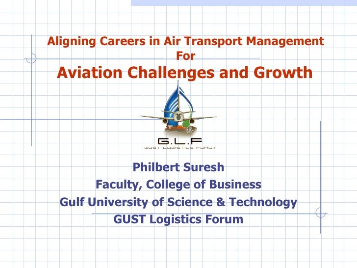Aligning Careers in Air Transport Management   For   Aviation Challenges and Growth   Philbert Suresh Faculty, College of ...