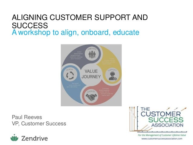 1 ALIGNING CUSTOMER SUPPORT AND SUCCESS A workshop to align, onboard, educate Paul Reeves VP, Customer Success