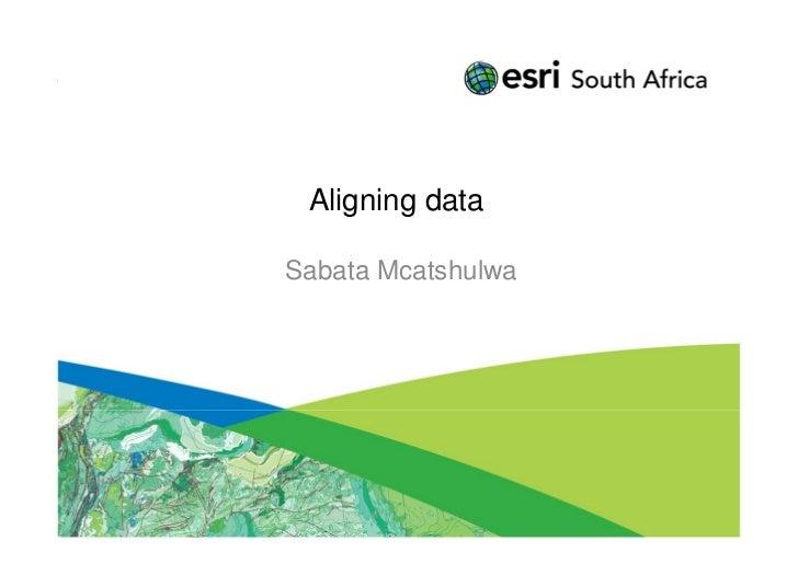 Aligning dataSabata Mcatshulwa