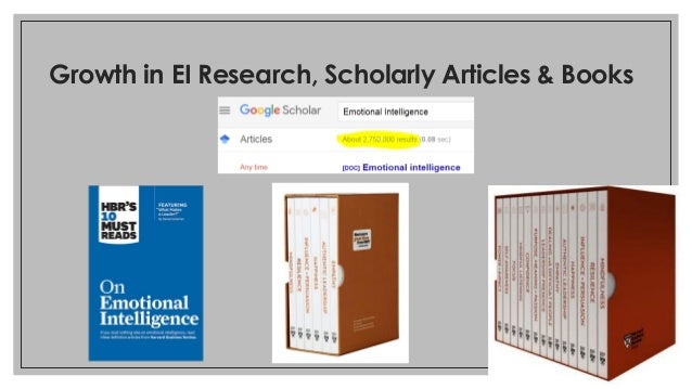 Growth in EI Research, Scholarly Articles & Books