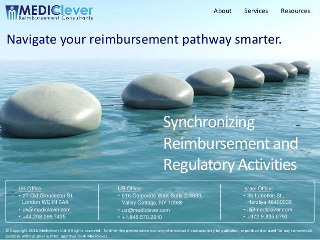 1 / 18 Copyright © 2016 Mediclever Ltd. Synchronizing Reimbursementand RegulatoryActivities Navigate your reimbursement pa...