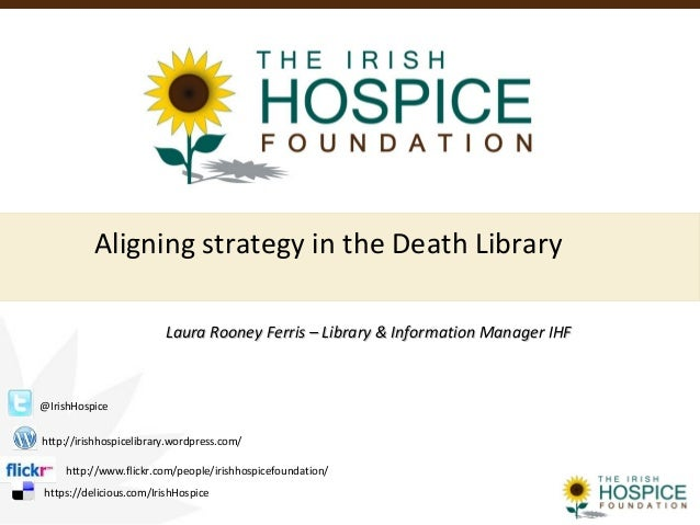 Aligning strategy in the Death LibraryLaura Rooney Ferris – Library & Information Manager IHFLaura Rooney Ferris – Library...