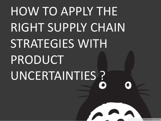 aligning supply chain strategies with product uncertainties Información del artículo aligning supply chain strategies with product uncertainties.