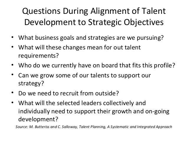 how to build a talent strategy