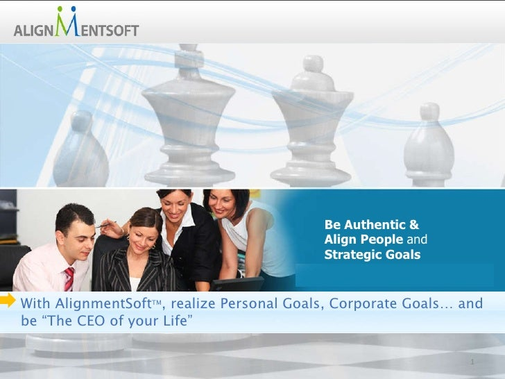 Improve Performance, Reduce Risk… … . Aligning People with Strategic Goals Be Authentic &  Align People  and Strategic Goa...