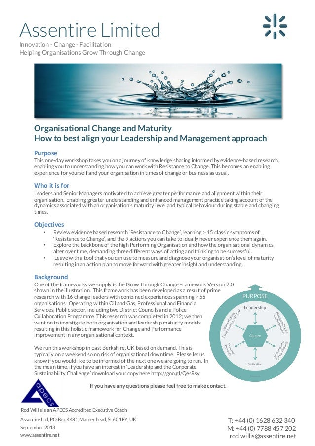 Assentire Limited Innovation - Change - Facilitation Helping Organisations Grow Through Change  Organisational Change and ...