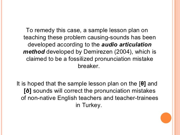 Teaching Of Th Sounds In English By Ali Karakas