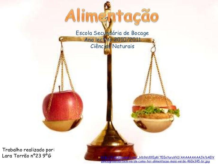 Alimentação<br />Escola Secundária de Bocage<br />Ano lectivo 2010/2011<br />Ciências Naturais <br />Trabalho realizado po...