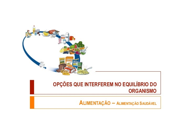 OPÇÕES QUE INTERFEREM NO EQUILÍBRIO DO                           ORGANISMO         ALIMENTAÇÃO – ALIMENTAÇÃO SAUDÁVEL
