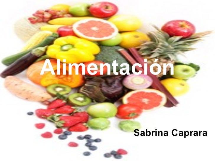 Alimentación Sabrina Caprara