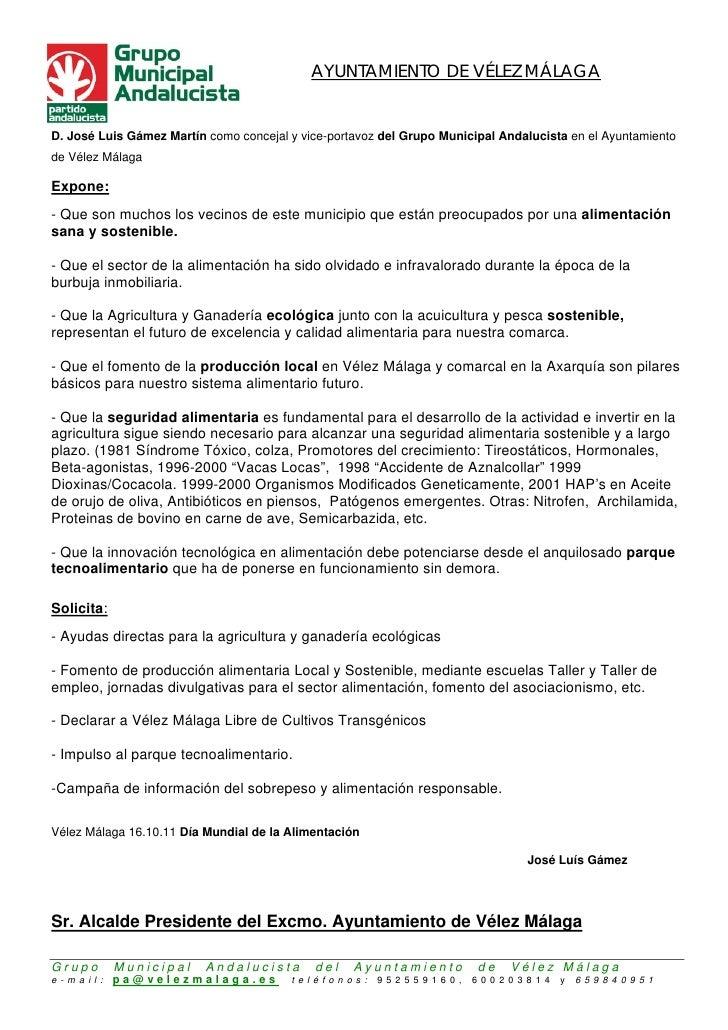 AYUNTAMIENTO DE VÉLEZ MÁLAGAD. José Luis Gámez Martín como concejal y vice-portavoz del Grupo Municipal Andalucista en el ...
