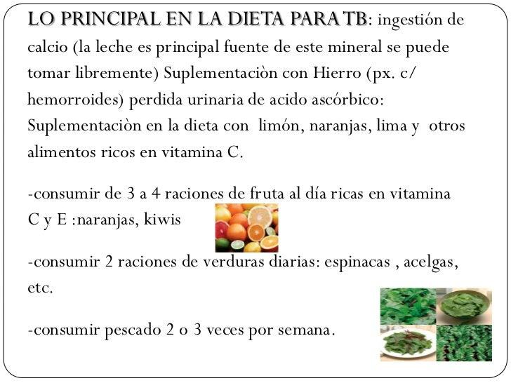 Alimentaci n de la persona afectada por tb - Alimentos prohibidos con hemorroides ...