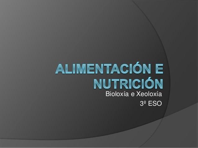Bioloxía e Xeoloxía 3º ESO