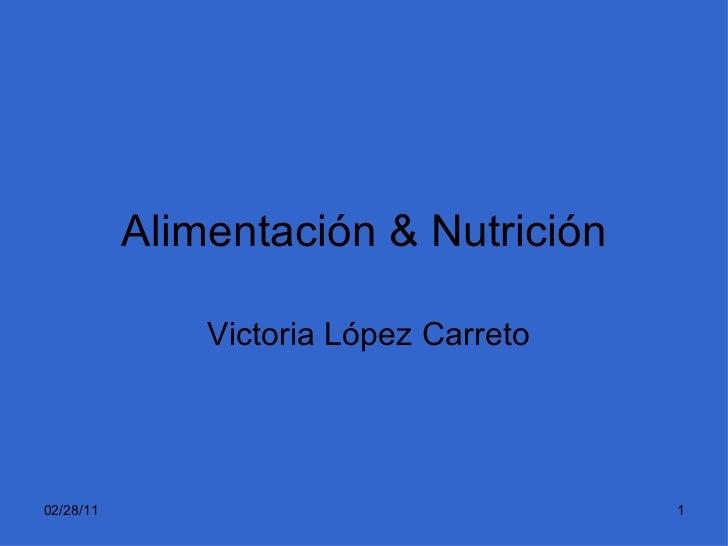 Alimentación & Nutrición Victoria López Carreto