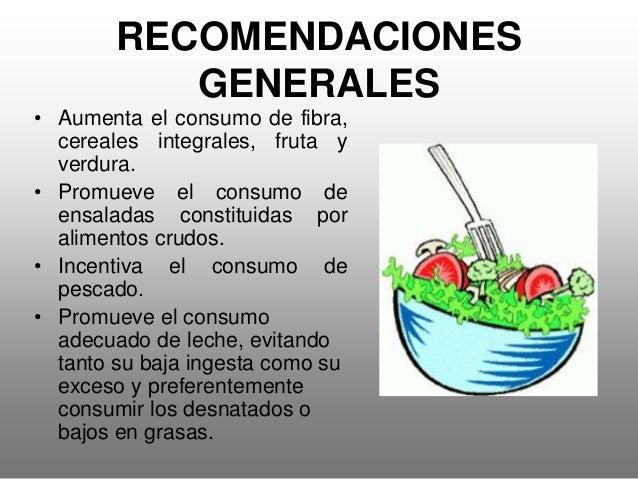 RECOMENDACIONES GENERALES • Come al menos tres piezas de fruta al día, siendo al menos una cítrica (naranjas, mandarinas, ...