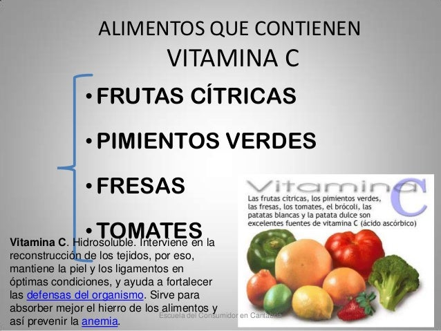 Alimentaci n y nutrici n para padres - Que alimentos contienen vitamina c ...